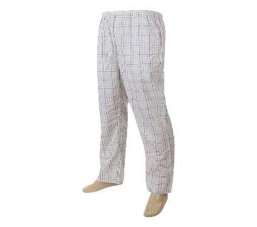 Mens extra relax soft cotton check pajama pants.