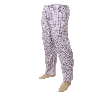 Mens extra relax soft cotton white check pajama pants.