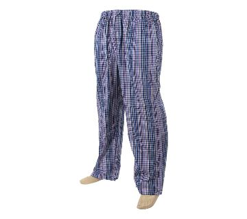 Mens extra relax soft cotton multi color check pajama pants.