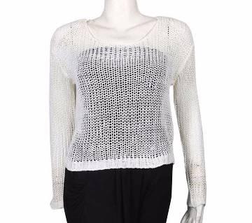 Girls Net Design Sweater