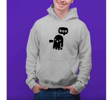 Boo Mens Hoodie - Grey