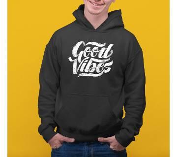Good Vibes Mens Hoodie - Black