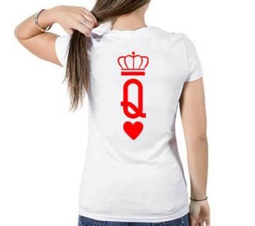 Queen Womens T-shirt - white