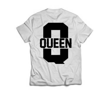 Queen 333 Womens T-shirt - white