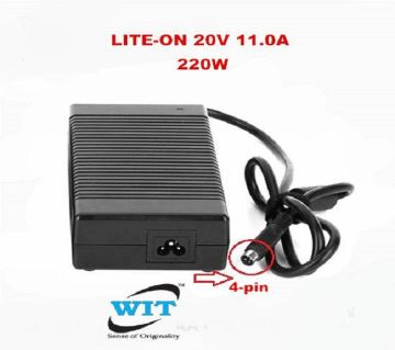 LITE-ON 20V 11.0A 220W 4-pin Power Adapter Dell Alienware D900K D900T PA-1221-03 220W Adapter