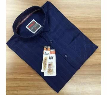 Full Sleeve Casual Shirt For Men - Blue
