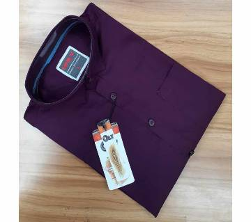Full Sleeve Casual Shirt For Mens- Purple