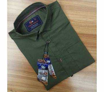 Full Sleeve Casual Shirt For Mens- Olive