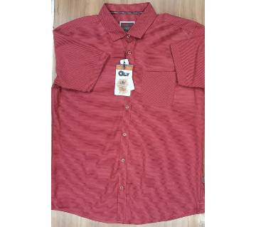 Half Sleeve Casual Shirt For Mens Red