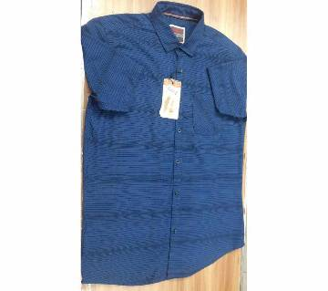 Half Sleeve Casual Shirt For Mens Blue