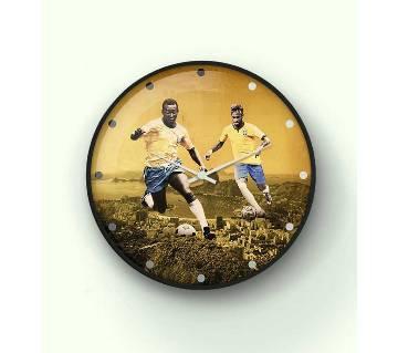 Brazil legends wall clock 14 Inch WCK-SL-2027
