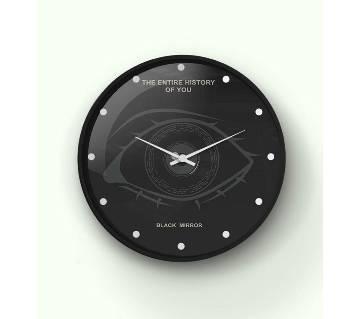 Black Mirror eye Wall Clock 14 Inch WCK-TS-3024