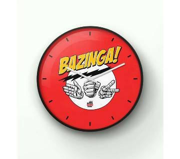 The Big Bang Theory Bazinga Wall Clock 14 Inch WCK-TS-3063
