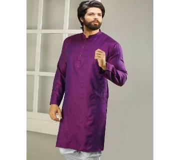 Purple Semi Long Panjabi For Men