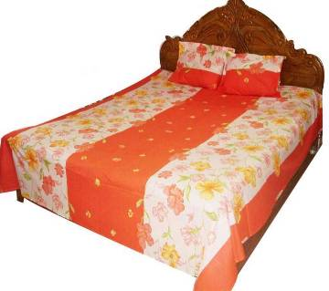 PAKIZA Double Size Cotton Bed Sheet Set