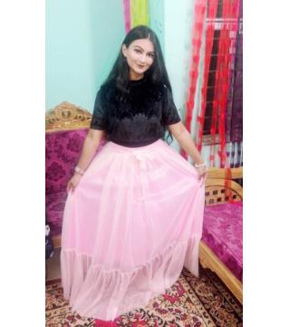 Skirt Top Set Free Size