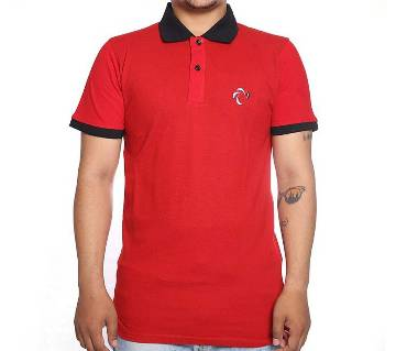 Red Short Sleeve Polo-Shirt for Men