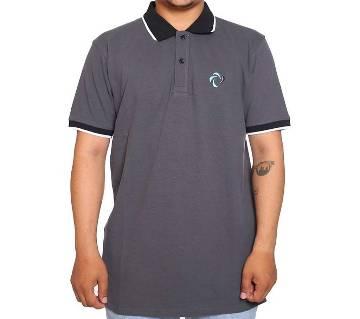 Gray Short Sleeve Polo Shirt for men