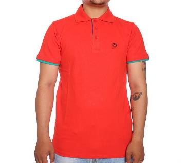 Red Short Sleeve Polo Shirt For men