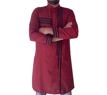 Stylish semi long panjaby-Maroon