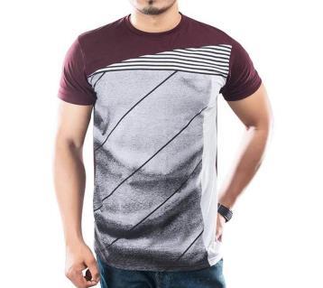 Aristo round neck multicolor t shirt for men