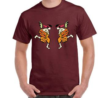 Mens Boishakhi Thematic Dhol T-Shirt