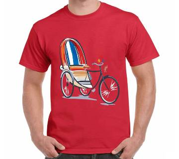 Mens Boishakhi Riksa Thematic T-Shirt