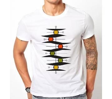 Boishakhi white Short Sleeve T-Shirt for men