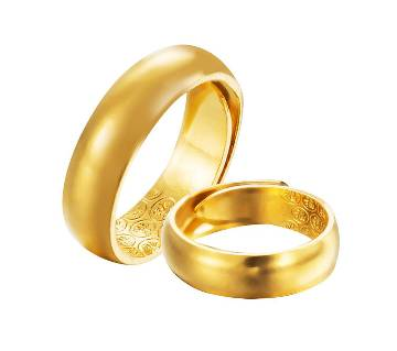 Gold plated couple gift Ring
