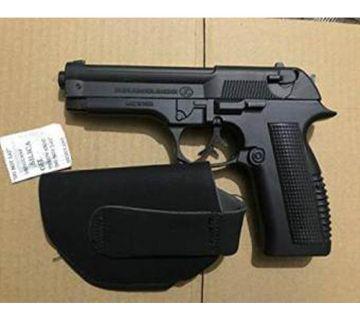 Metal Lighter Gun Showpiece - Black