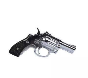 Metal Small BAOCH Gun Showpiece and Lighter - Black and Silver