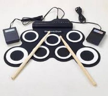 Electronic Fold-able Drum Kit Portable Drum set for all Musical Instrument