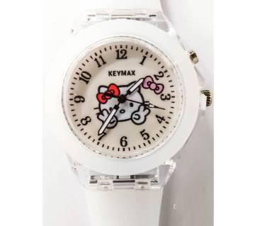 White Kids Light Fashion Wrist Watch