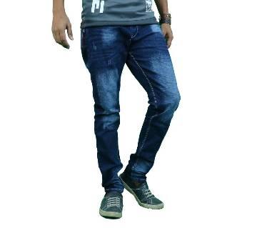 Menz Scratched Jeans - Blue