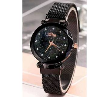 Dior Magnet Ladies Black Wrist Watch