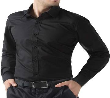 Black Long Sleeve Formal Shirt for Men