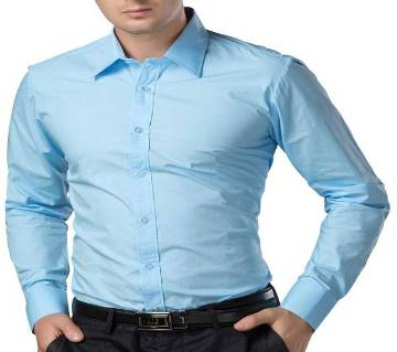 Sky Blue Long Sleeve Formal Shirt for Men