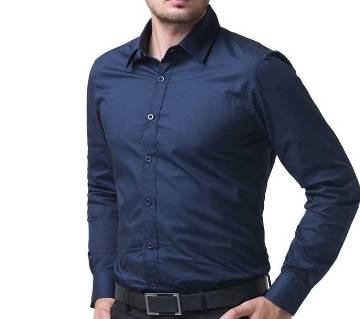 Navy Blue Long Sleeve Formal Shirt for Men