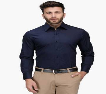 Navy Blue Formal Shirt for Men