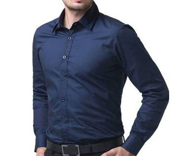 Navy Blue Full Sleeve Formal Shirt