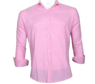 Pink Full Sleeve Casual Shirt for Men