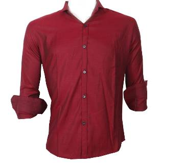 Maroon Full Sleeve Casual Shirt for Men