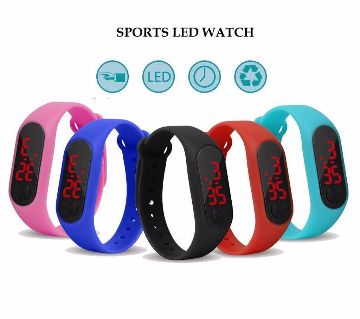 Gents LED Sports Rest Watch - 1pcs