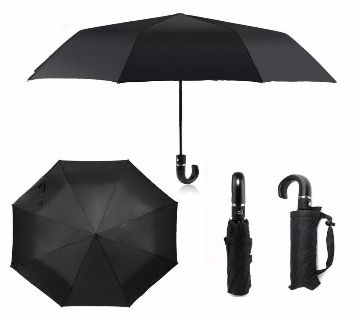 Folding black umbrella