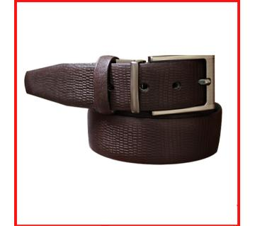 genuine leather belt - Coffee