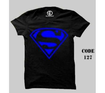 Super Man Half Sleeve Round Neck T Shirt For Men