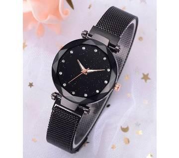 Dior High Quality Magnet Analog Watch for Women  Black 01  SKA