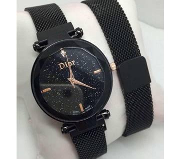 Dior High Quality Magnet Analog Watch for Women  Black 02  SKA