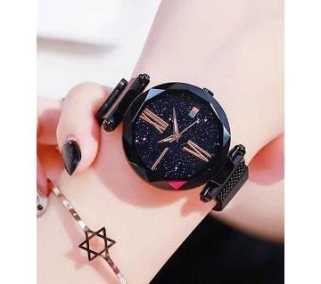 Dior High Quality Magnet Analog Watch for Women  Black 03  SKA