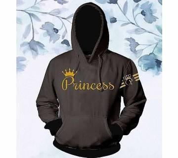 Womens Stylish Hoodie  Grey  Princess  FAS